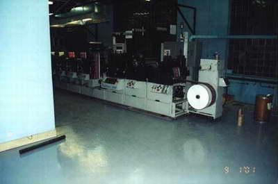 Самовыравнивающаяся стяжка М 300 в полиграфическом цехе