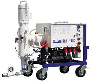 Растворную станцию мы используем для непрервного смешивания сухих смесей и подачи раствора.