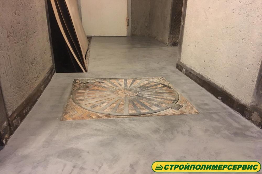затертый бетон